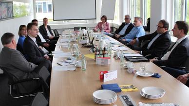 Die Expertenrunde Business Talk WLAN
