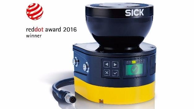Der Sicherheits-Laserscanner microScan3 von Sick wurde mit dem Red Dot prämiert.