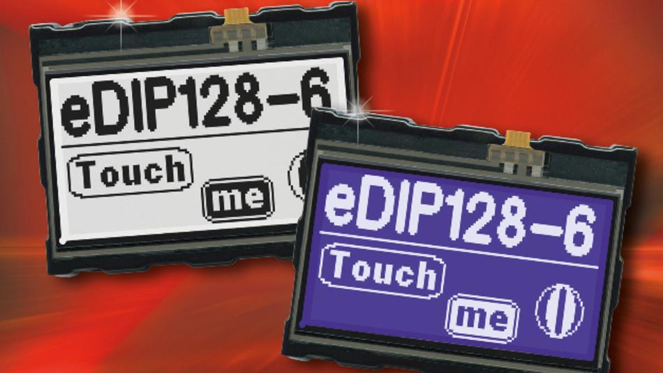 Optional auch mit Touch erhältlich ist Electronic Assemblys programmierbare Grafikdisplay-Familie EA eDIP128-6, mit der sich neben Text auch Grafiken darstellen lassen.