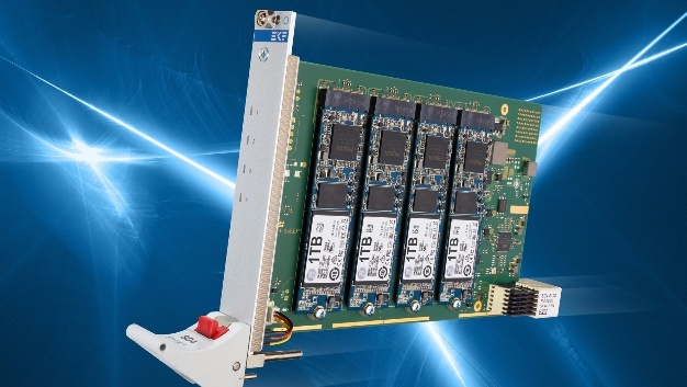 EKF SD4-SWEEP: Hardware-RAID mit vier SATA-Flash-Speicher-M.2-Modulen.
