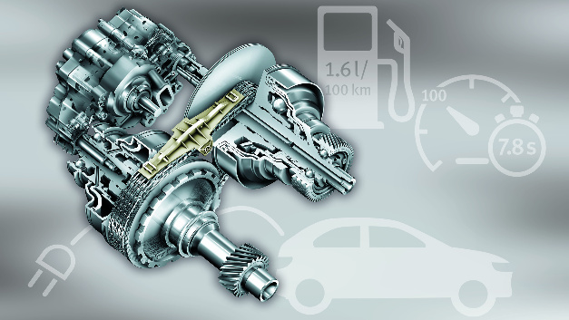 Continuously Variable Transmission: stufenloses CVT-Getriebe.