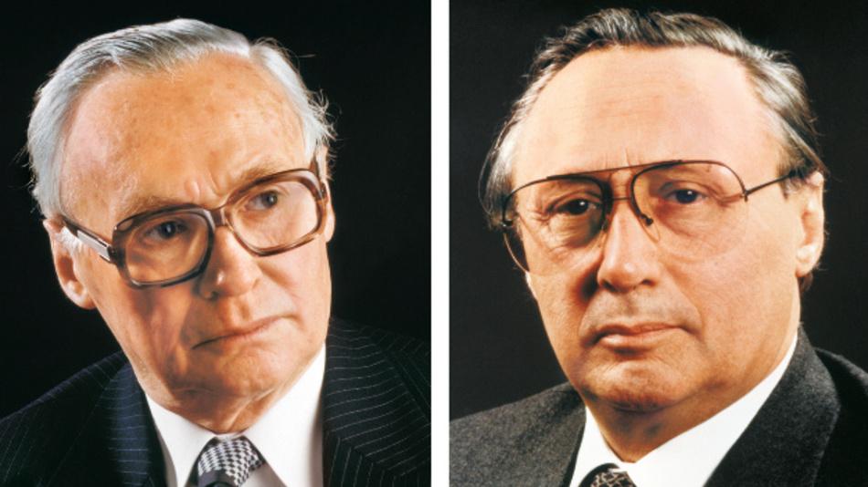 Den Grundstein für die heutige Unternehmensgruppe legten 1946 die Brüder Dr. Wilhelm Schaeffler (links) und Dr.-Ing. E.h. Georg Schaeffler