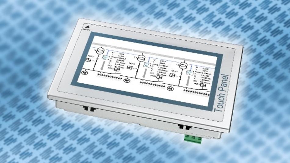 Mit dem Touch-Panel lässt sich der Parallelbetrieb von Anlagen mit drei Einspeisungen steuern.