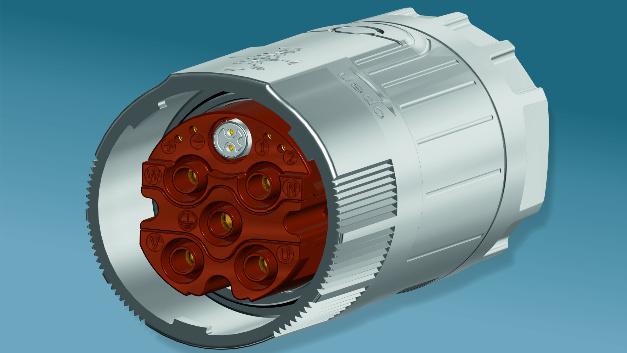 In Baugröße M40: Hybrid-Steckverbinder »740 htec«, bei Intercontec bereits seit zwei Jahren im Einsatz.