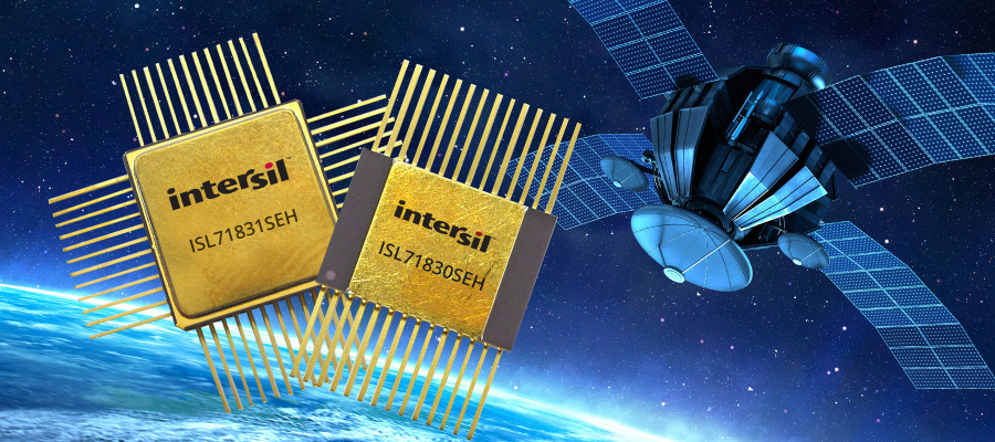 Der 5V/-16-Kanal-Multiplexer ISL71830SEH und der 5V-/32-Kanal-Multiplexer ISL71831SEH von Intersil.