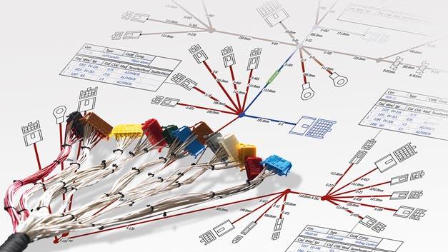 Das in der Version 7.5 zur Verfügung stehende Tool Preevision von Vector Informatik unterstützt beispielsweise die Kabelbaumentwicklung.