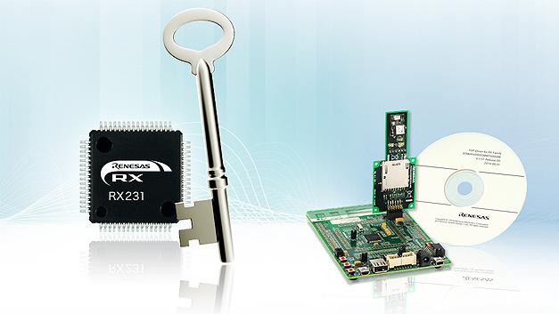 Neue Serie von Embedded-Security-Lösungen: das RX231 Communications Security Evaluation Kit.