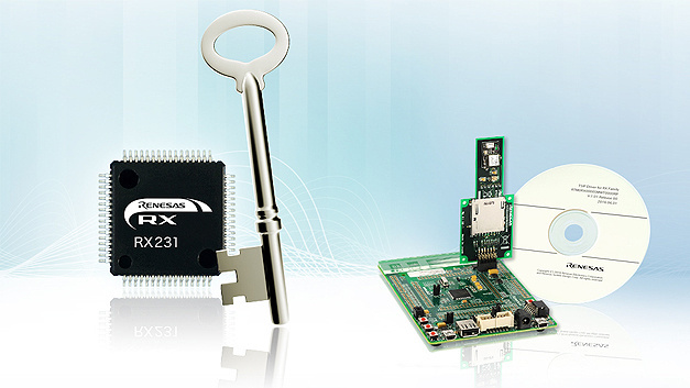 Neue Serie von Embedded-Security-Lösungen: das RX231 Communications Security Evaluation Kit.