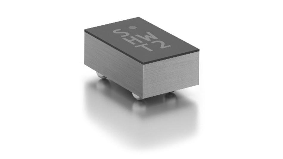 Der neue SHTW2 von Sensirion ist nur 1,3 x 0,7 x 0,5 mm³ groß.