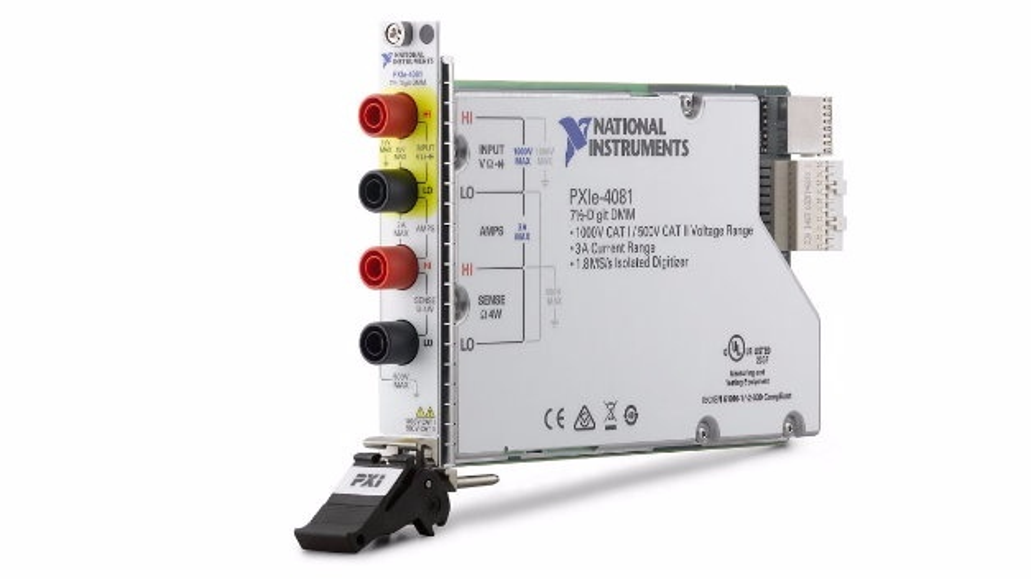 Erstes PXIe-basiertes DMM NI PXIe-4081 mit 7 ½ Stellen und isoliertem Digitizer-Modus