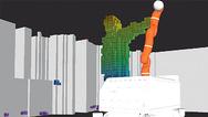 Umgebungsmodell des Roboters mit statischen und dynamischen Hindernissen