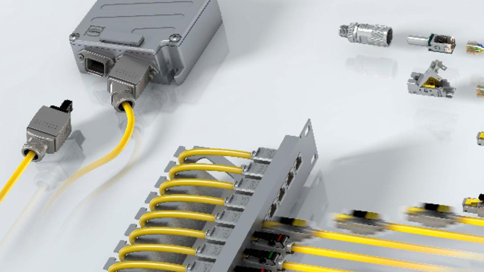 Verkabelung von morgen, z.B. über das flexible Steckverbinder-System preLink von Harting