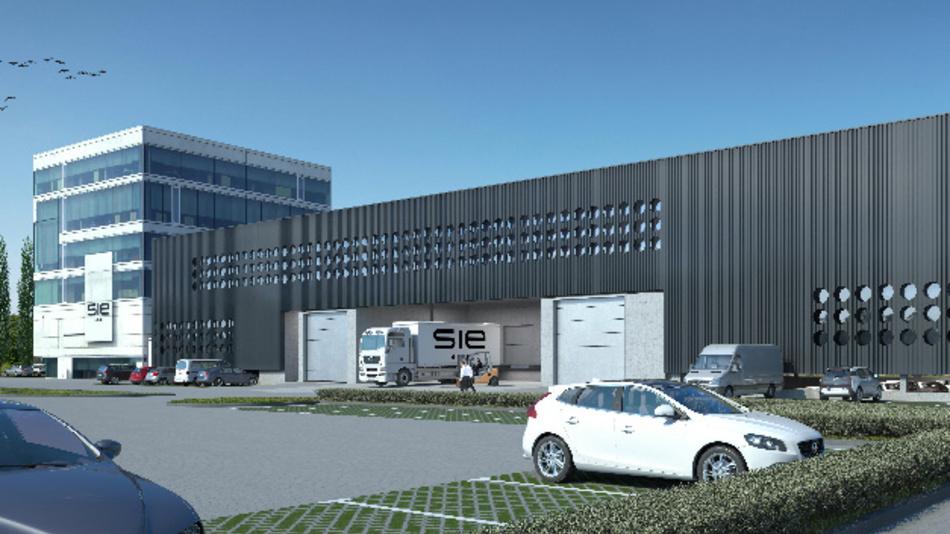 Entwurf des Neubaus von S.I.E im Millennium Park Lustenau