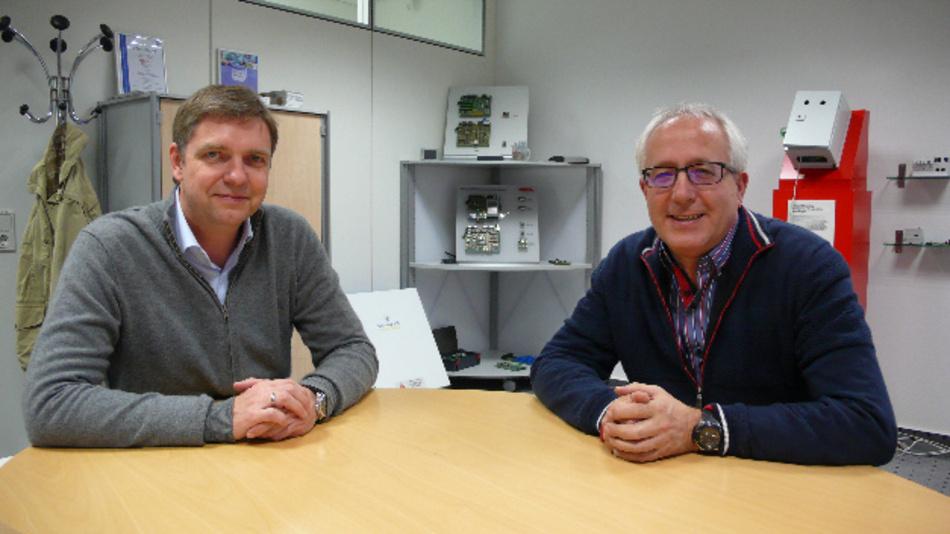 Thomas Schumacher und Christoph Müller, Beck IPC: »Unser Schwerpunktthema ist nicht die Feldbus-, sondern die Internet-Kommunikation.«