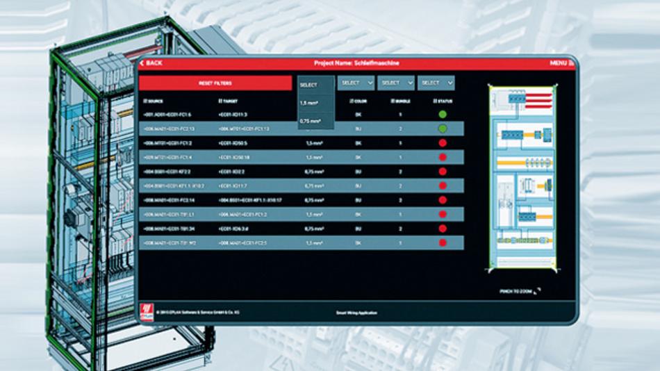 Mit Erscheinen der EPLAN Plattform 2.6 im September 2016 wird die Software »Smart Wiring Application« verfügbar sein