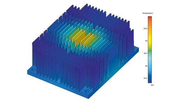 Was sich unter einem Kühlkörper tut, ist meistens ein großes Geheimnis. Ansys simuliert das Verhalten elektronischer und mechanischer Bauteile und versucht dem auf die Schliche zu kommen.