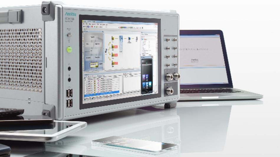 Der Signaltechnik-Tester MD8475B von Anritsu ermöglicht Tests von LTE-Advanced-Endgeräten.