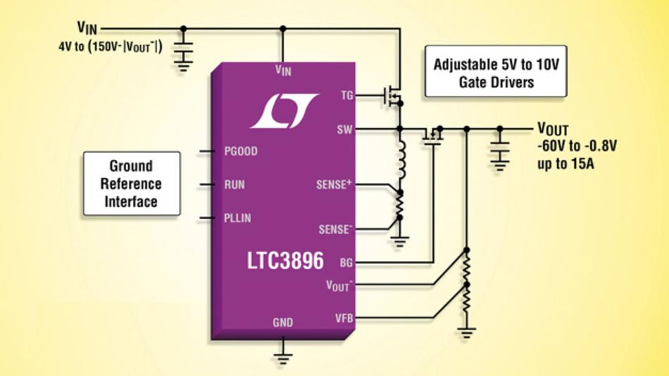 Invertierender 150V-Synchron-DC/DC-Controller mit geringem Ruhestrom