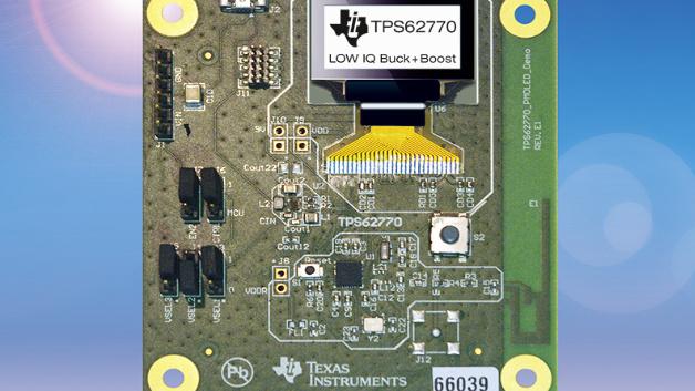 Auf dem Dual-Rail-Power-Management-Chip TPS62770 von Texas Instruments basiert das Referenz-Design für Wearables.