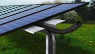 UV-beständige, zweiteilige Kabelschutzrohre nehmen Versorgungsleitungen von PV-Anlagen auf und schützen sie sicher vor schädlichen Einflüssen.