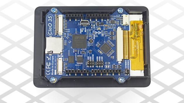 Ein 3,5-Zoll-TFT-Touch-Display ist momentan Bestandteil von FTDIs einfach programmierbarer, Arduino-kompatibler HMI-Lösung CleO.