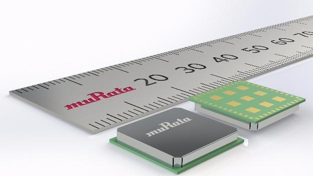 Murata neues LoRaWAN-Modul ist mit Maßen von 12,5 x 11,6 x 1,76 mm sehr kompakt und besitzt ein mit einer Metallabschirmung versehenes Gehäuse.