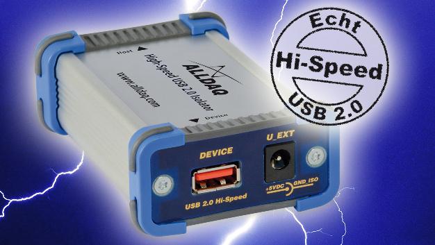 Mit den ALLDAQ USBI 2.0-ISO-Geräten lassen sich USB-Geräte galvanisch vom PC trennen, ohne die Leistung negativ zu beeinflussen.