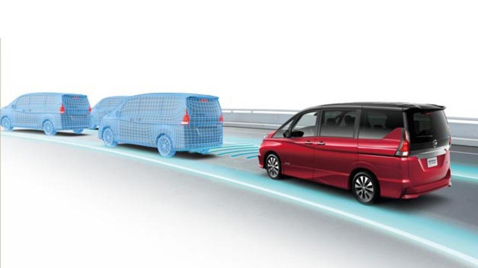 Die fünfte Generation des Familien-Vans Serena, die im August in Japan auf den Markt kommen wird, verfügt über die ProPilot-Technik.