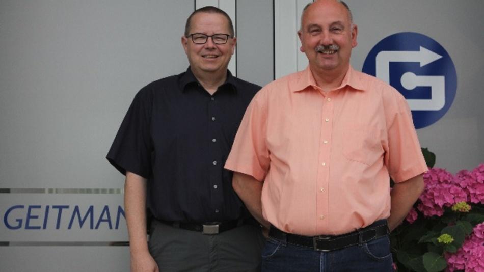 Die beiden geschäftsführenden Gesellschafter der Geitmann Messtechnik GmbH & Co. KG Bernward Grewe (links) und Theo Ulferts.