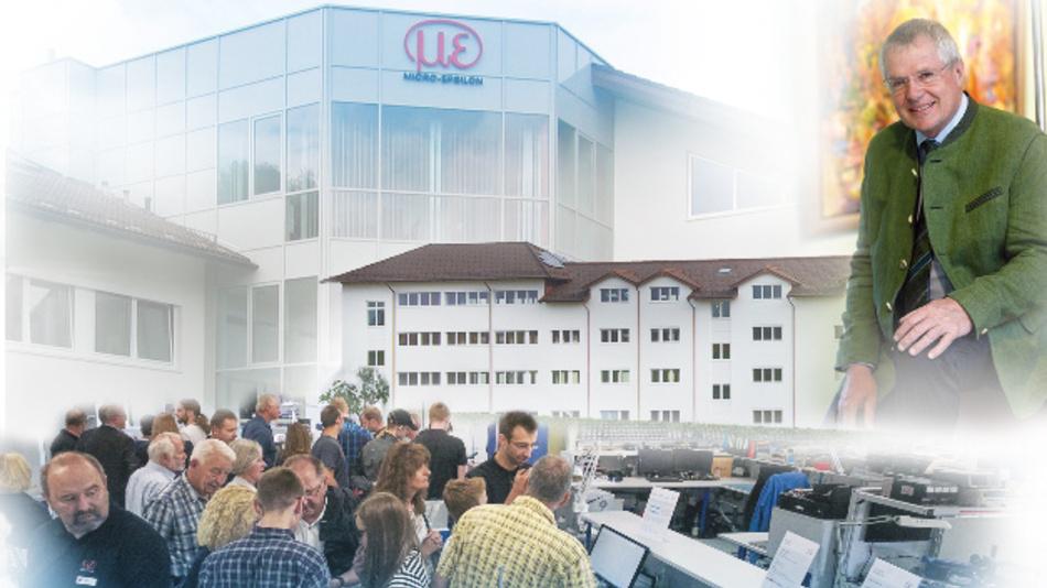 2016: 40 Jahre Micro-Epsilon Ortenburg, 40 Jahre Arbeitsjubiläum des Geschäftsführers Karl Wisspeintner und Einweihung Neubau.