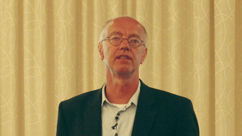 Bild 1. Rutger Wijburg, Globalfoundries, sprach in seiner Keynote von der großen Bedeutung der Halbleiterindustrie hinsichtlich der Wertschöpfung.