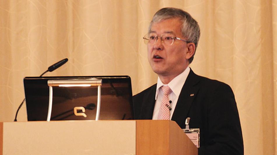 Bild 2. Über den derzeitigen Stand der aktuell verfügbaren Maskentechnologien referierte Naoya Hayashi, Dai Nippon Printing.