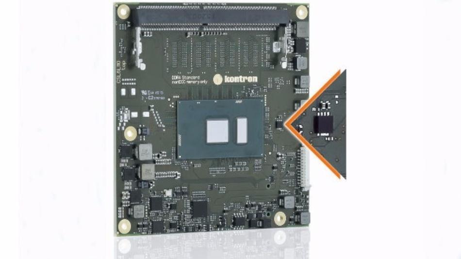 Mehr Sicherheit durch integrierten Security-Chip.
