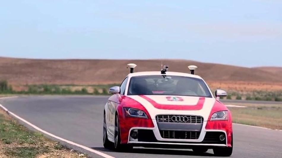 Der autonome Audi TTS der Stanford Universität, genannt Shelley, nutzt die Lidar-Technologie von Ibeo. Auf diese setzt künftig auch ZF Friedrichshafen.