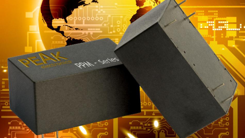 Die Netzteilmodule der PPM-Serie von Peak electronics können ein bis zwei Watt leisten.