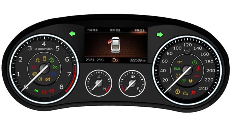 Das Kombiinstrument im neuen Borgward BX7 kommt aus dem Hause Continental. Damit wird eine mehr als 50-jährige Partnerschaft neu belebt.