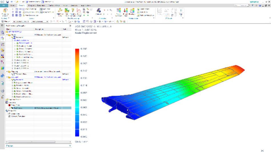 Simulation einer Flugzeug-Tragfläche mit »Simcenter«