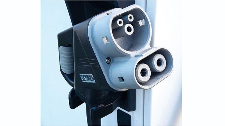 Bild 1. Der CCS-Stecker kombiniert Elemente für das AC- und für das DC-Laden.