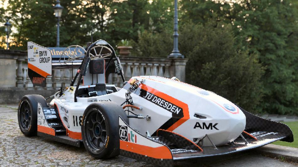 Für die Formula Student entwickelt das Elbflorace Team der Universität TU Dresden einen Rennwagen.