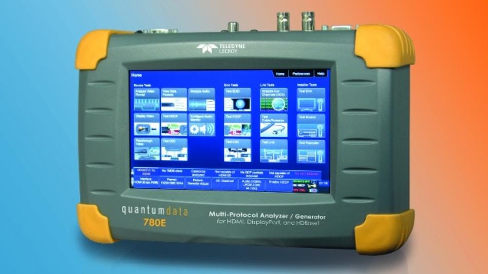 Signalgenerator und Protokoll-Analysator QD780E für 4k-/UHD-Signale von Quantum Data.