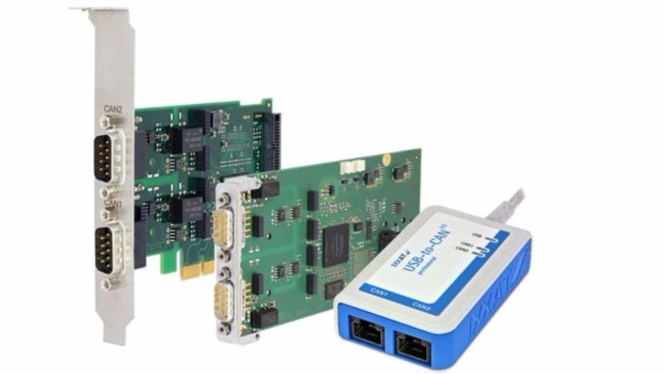Unter vielen Echtzeit-Betriebssystemen und Linux nutzbar: Die PC-CAN-Interfaces von HMS.