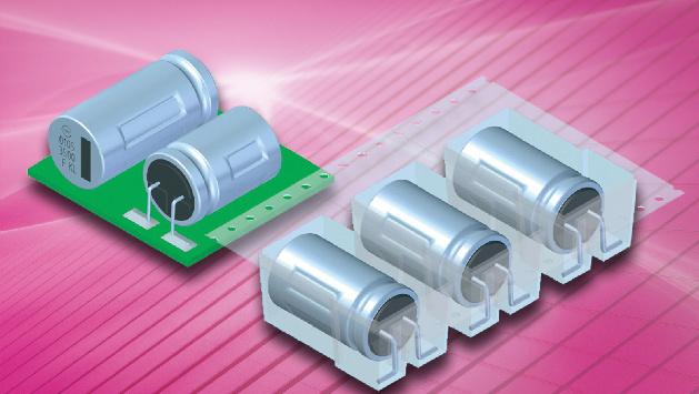 Frolyt (Halle B6, Stand 256) beliefert seine Kunden seit Kurzem mit Aluminium-Elektrolyt-Kondensatoren (Elko) in Pseudo-SMD-Technik. Die bleifreien Komponenten in radialer Single-Ended-Bauweise sind ausgewiesen mit einem hohen C×U-Produkt im weiten Spannungsbereich von 6,3 bis 450V. Die wichtigen Parameter Kapazität, Verlustfaktor und interner Widerstand zeigen innerhalb des spezifizierten Temperaturbereichs von –55 bis +125/135°C ein sehr stabiles Temperaturverhalten. Die Kondensatoren sind für die automatische Oberfächenmontage auf Schaltungsplatinen ausgelegt, die anschließend im bleifreien Reflow-Lötverfahren verarbeitet werden. Beim Bestücken zwischen Kondensatorgehäuse und Leiterplatte aufgebrachter Fixierkleber härtet während des Lötprozesses aus. So entsteht ohne einen zusätzlichen Arbeitsschritt eine dauerhaft feste und sichere Verbindung zur Leiterplatte. Des Weiteren halten die Bauteile extremen dreidimensionalen Schwingungsbelastungen von 30 bis 70G stand. Die Elektrolyt-Kondensatoren können in verschiedenen kundenspezifischen Varianten geliefert werden. So ist es beispielsweise möglich, die Kennwerte der Bauteile genau auf spezifische Applikationen abzustimmen.