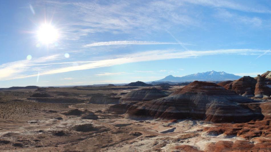 Die abgelegene, felsige Wüstenlandschaft in Utah ist zwar nicht der Mars, bietet aber optimale Bedingungen für eine Marssimulation.