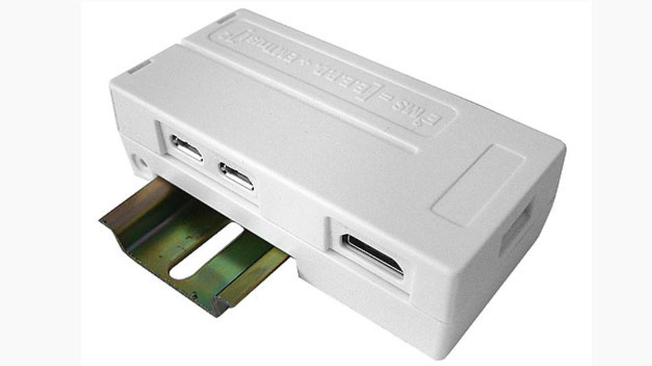 Bild 3. Mit dem Gehäuse von EMTrust kann man einen Raspberry Pi Zero auf der Hutschiene montieren