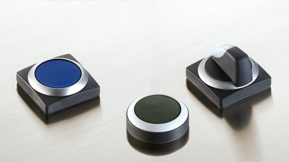 Die Befehlsgeräte der Serie »Rafix 22 QR« von Rafi sind flach gebaut und bieten vielerlei Gestaltungsoptionen