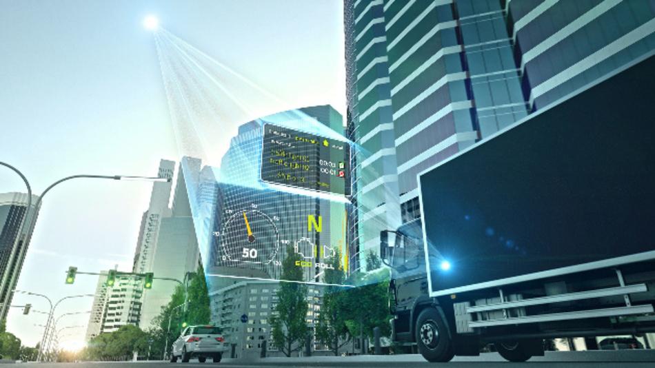 Anhand von Echtzeitdaten zu den Ampelphasen kann das Fahrzeug mit Hilfe des dynamischen eHorizon von Continental die Fahrstrategie optimal steuern.