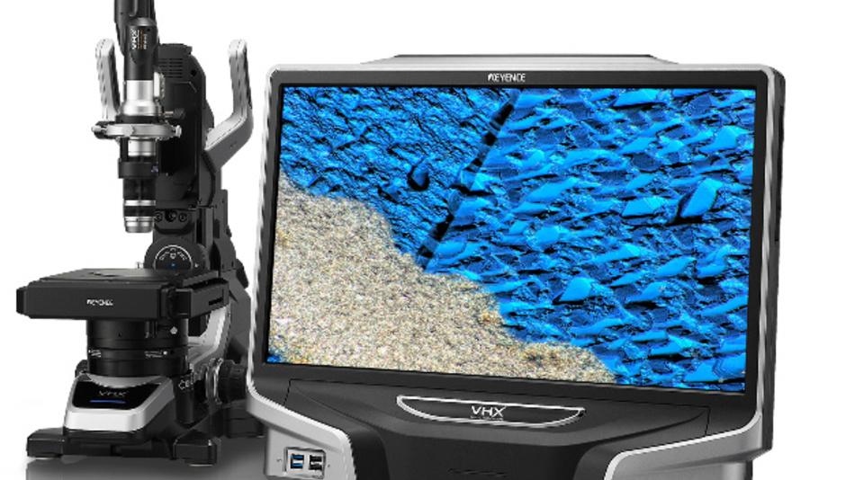 Das VHX5000 von Keyence kann in wenigen Sekunden Bilder aus dem gesamten Tiefenschärfebereich aufnehmen.