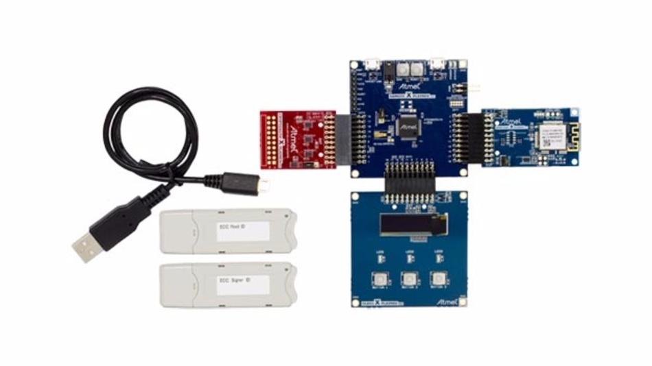 Entwicklungskit AT88CKECC für sichere Authenfizierung von IoT-Geräten mit den Amazon Web Services.
