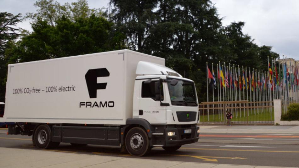Die E-Lkws von Framo sollen eine Reichweite von rund 250 km bieten.