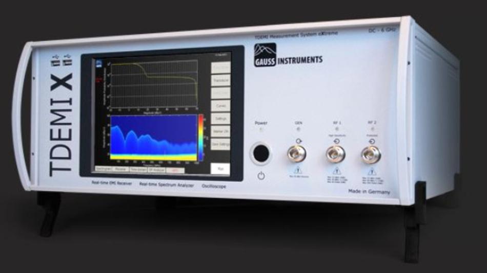 Der EMV-Messempfänger TDEMI X von Gauss Instruments arbeitet mit einer Echtzeitbandbreite von bis zu 6 GHz.